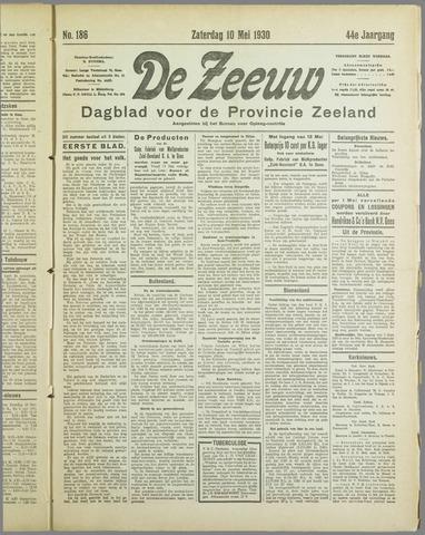 De Zeeuw. Christelijk-historisch nieuwsblad voor Zeeland 1930-05-10