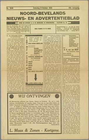Noord-Bevelands Nieuws- en advertentieblad 1933-10-21