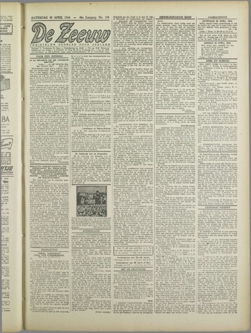 De Zeeuw. Christelijk-historisch nieuwsblad voor Zeeland 1944-04-29