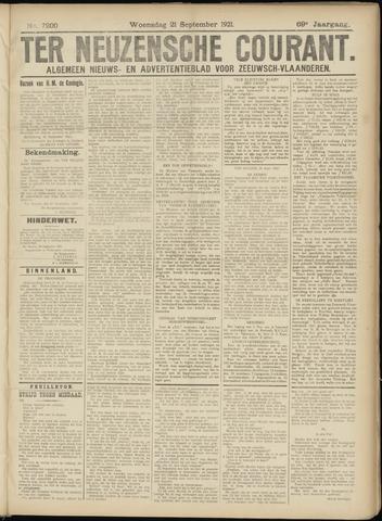 Ter Neuzensche Courant. Algemeen Nieuws- en Advertentieblad voor Zeeuwsch-Vlaanderen / Neuzensche Courant ... (idem) / (Algemeen) nieuws en advertentieblad voor Zeeuwsch-Vlaanderen 1921-09-21