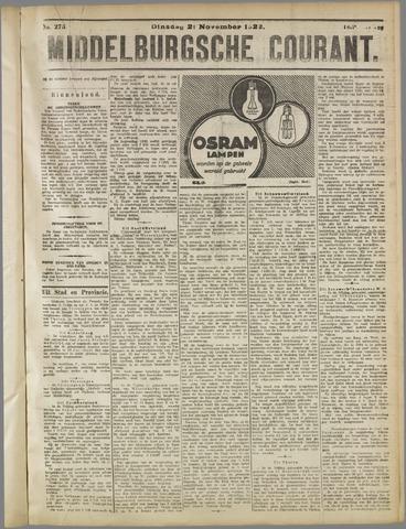 Middelburgsche Courant 1922-11-21