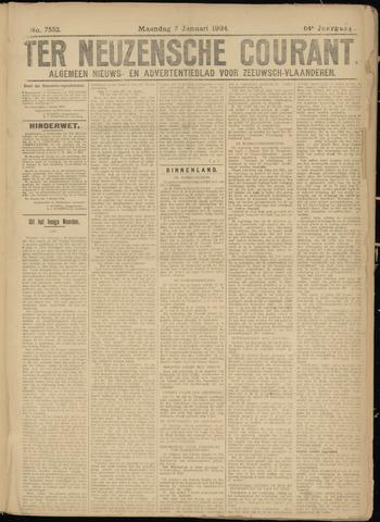 Ter Neuzensche Courant. Algemeen Nieuws- en Advertentieblad voor Zeeuwsch-Vlaanderen / Neuzensche Courant ... (idem) / (Algemeen) nieuws en advertentieblad voor Zeeuwsch-Vlaanderen 1924-01-07