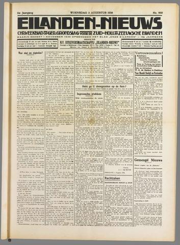 Eilanden-nieuws. Christelijk streekblad op gereformeerde grondslag 1938-08-03