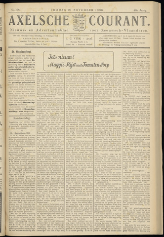 Axelsche Courant 1930-11-21