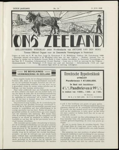 Ons Zeeland / Zeeuwsche editie 1928-06-16