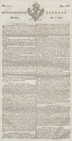 Middelburgsche Courant 1763-06-11