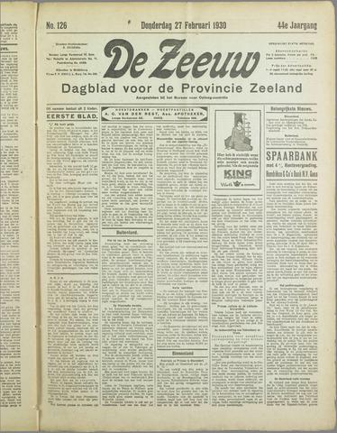 De Zeeuw. Christelijk-historisch nieuwsblad voor Zeeland 1930-02-27