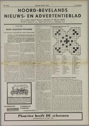 Noord-Bevelands Nieuws- en advertentieblad 1968-04-20
