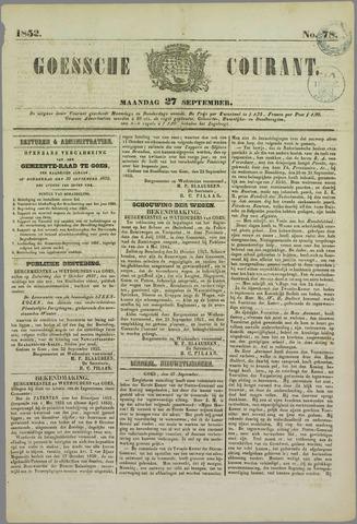 Goessche Courant 1852-09-27