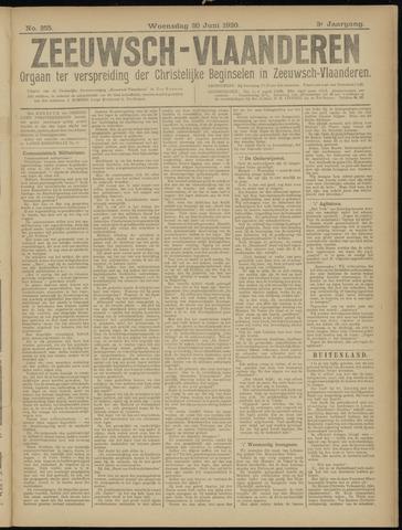 Luctor et Emergo. Antirevolutionair nieuws- en advertentieblad voor Zeeland / Zeeuwsch-Vlaanderen. Orgaan ter verspreiding van de christelijke beginselen in Zeeuwsch-Vlaanderen 1920-06-30
