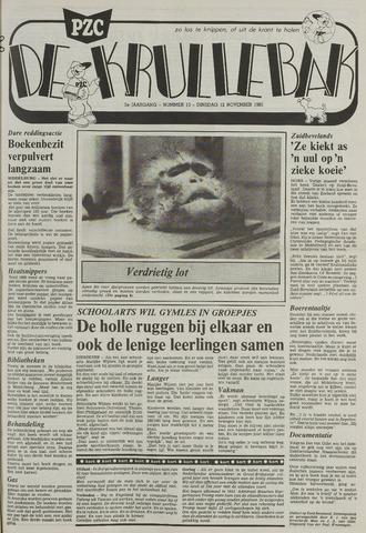 Provinciale Zeeuwse Courant katern Krullenbak (1981-1999) 1985-11-12