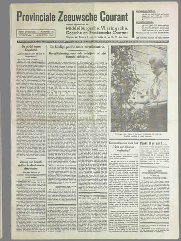 Provinciale Zeeuwse Courant 1940-08-01