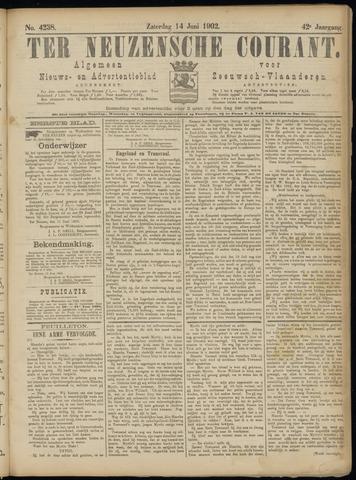 Ter Neuzensche Courant. Algemeen Nieuws- en Advertentieblad voor Zeeuwsch-Vlaanderen / Neuzensche Courant ... (idem) / (Algemeen) nieuws en advertentieblad voor Zeeuwsch-Vlaanderen 1902-06-14