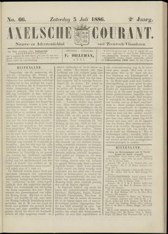 Axelsche Courant 1886-07-03