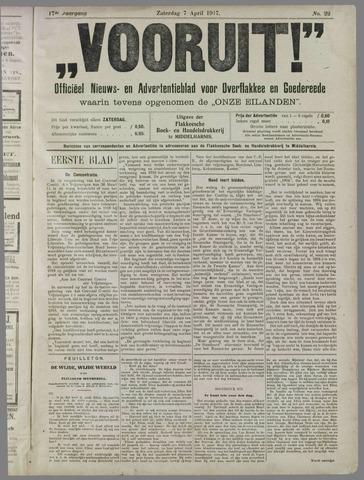 """""""Vooruit!""""Officieel Nieuws- en Advertentieblad voor Overflakkee en Goedereede 1917-04-07"""