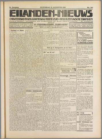 Eilanden-nieuws. Christelijk streekblad op gereformeerde grondslag 1938-08-10