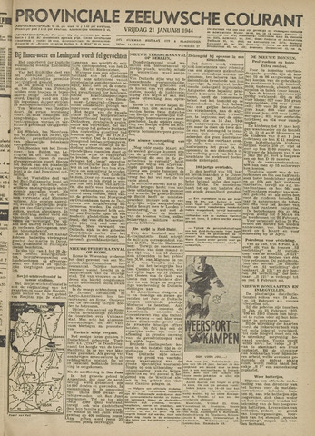 Provinciale Zeeuwse Courant 1944-01-21