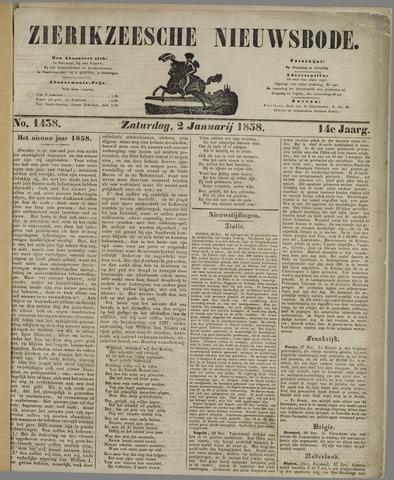 Zierikzeesche Nieuwsbode 1858