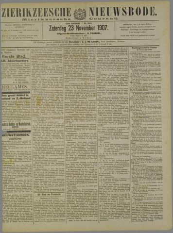 Zierikzeesche Nieuwsbode 1907-11-23