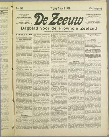 De Zeeuw. Christelijk-historisch nieuwsblad voor Zeeland 1929-04-05