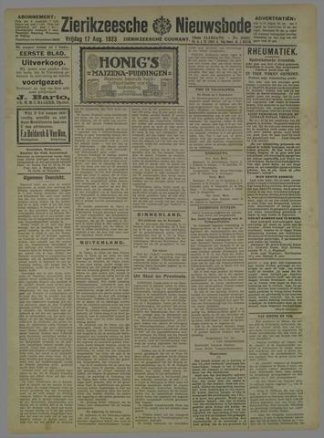 Zierikzeesche Nieuwsbode 1923-08-17