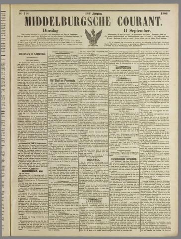 Middelburgsche Courant 1906-09-11