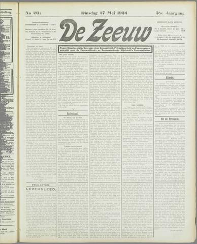 De Zeeuw. Christelijk-historisch nieuwsblad voor Zeeland 1924-05-27