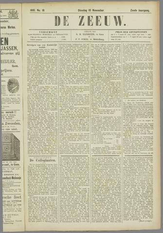 De Zeeuw. Christelijk-historisch nieuwsblad voor Zeeland 1891-11-10