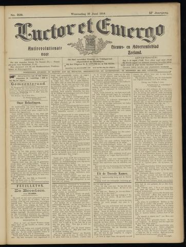 Luctor et Emergo. Antirevolutionair nieuws- en advertentieblad voor Zeeland / Zeeuwsch-Vlaanderen. Orgaan ter verspreiding van de christelijke beginselen in Zeeuwsch-Vlaanderen 1914-06-10