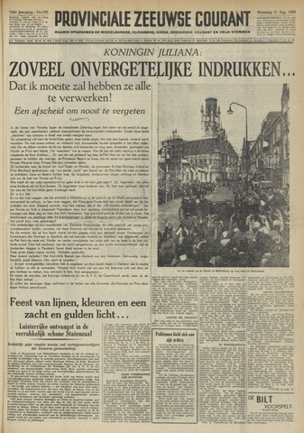 Provinciale Zeeuwse Courant 1950-08-21