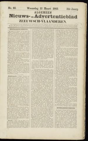 Ter Neuzensche Courant. Algemeen Nieuws- en Advertentieblad voor Zeeuwsch-Vlaanderen / Neuzensche Courant ... (idem) / (Algemeen) nieuws en advertentieblad voor Zeeuwsch-Vlaanderen 1862-03-12