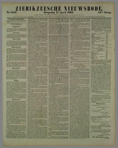 Zierikzeesche Nieuwsbode 1888-04-17
