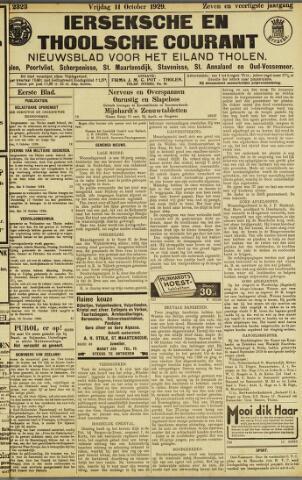 Ierseksche en Thoolsche Courant 1929-10-11