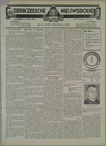 Zierikzeesche Nieuwsbode 1937-06-12