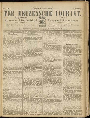 Ter Neuzensche Courant. Algemeen Nieuws- en Advertentieblad voor Zeeuwsch-Vlaanderen / Neuzensche Courant ... (idem) / (Algemeen) nieuws en advertentieblad voor Zeeuwsch-Vlaanderen 1904-10-01
