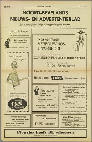 Noord-Bevelands Nieuws- en advertentieblad 1961-04-08