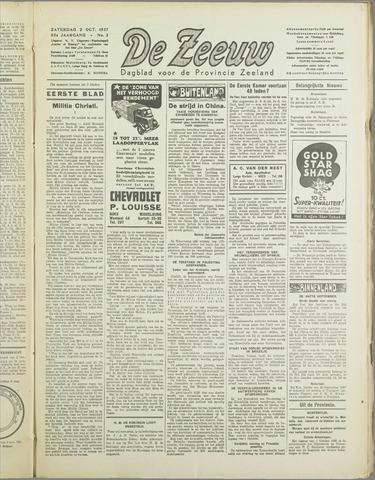 De Zeeuw. Christelijk-historisch nieuwsblad voor Zeeland 1937-10-02