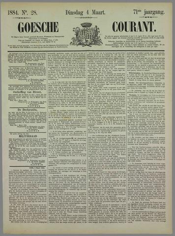 Goessche Courant 1884-03-04