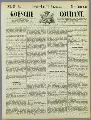 Goessche Courant 1891-08-20