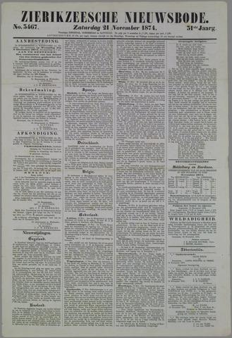 Zierikzeesche Nieuwsbode 1874-11-21