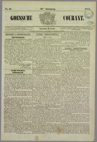Goessche Courant 1854-07-03