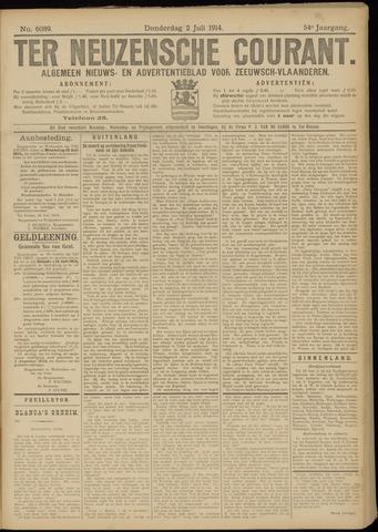 Ter Neuzensche Courant. Algemeen Nieuws- en Advertentieblad voor Zeeuwsch-Vlaanderen / Neuzensche Courant ... (idem) / (Algemeen) nieuws en advertentieblad voor Zeeuwsch-Vlaanderen 1914-07-02