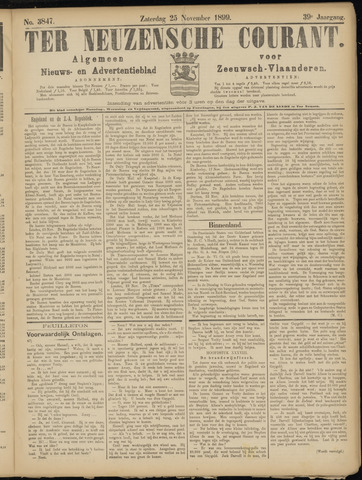 Ter Neuzensche Courant. Algemeen Nieuws- en Advertentieblad voor Zeeuwsch-Vlaanderen / Neuzensche Courant ... (idem) / (Algemeen) nieuws en advertentieblad voor Zeeuwsch-Vlaanderen 1899-11-25
