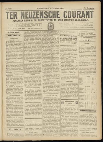 Ter Neuzensche Courant. Algemeen Nieuws- en Advertentieblad voor Zeeuwsch-Vlaanderen / Neuzensche Courant ... (idem) / (Algemeen) nieuws en advertentieblad voor Zeeuwsch-Vlaanderen 1932-11-30