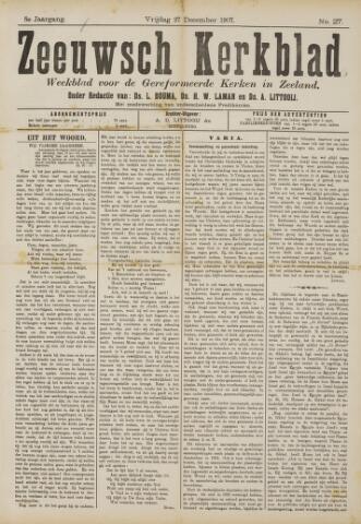 Zeeuwsche kerkbode, weekblad gewijd aan de belangen der gereformeerde kerken/ Zeeuwsch kerkblad 1907-12-27