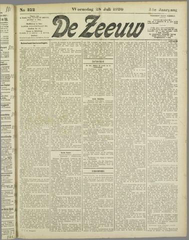 De Zeeuw. Christelijk-historisch nieuwsblad voor Zeeland 1920-07-28