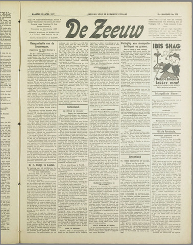 De Zeeuw. Christelijk-historisch nieuwsblad voor Zeeland 1937-04-26