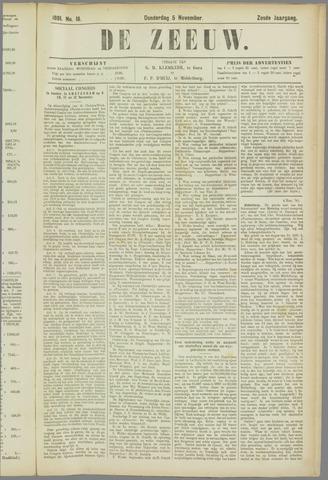 De Zeeuw. Christelijk-historisch nieuwsblad voor Zeeland 1891-11-05