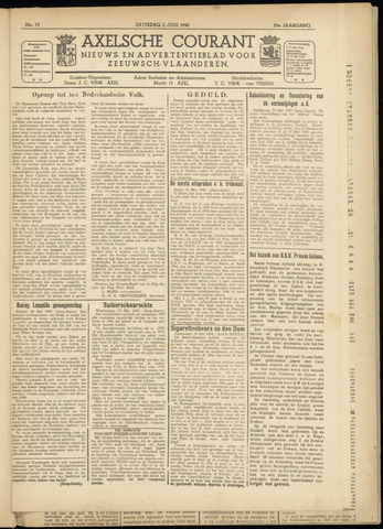 Axelsche Courant 1945-06-02
