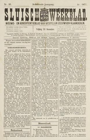 Sluisch Weekblad. Nieuws- en advertentieblad voor Westelijk Zeeuwsch-Vlaanderen 1877-12-21